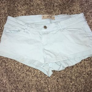 Hollister Low Rise Baby Blue Shorts